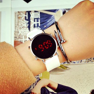 新韩版ulzzang创意新款数字方形表学生led电子情侣男女生学生手表