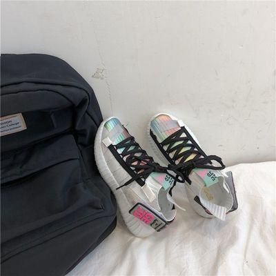飞织女鞋夏季老爹鞋2019新款透气超火网红智熏袜子运动鞋女ins潮