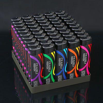 5-50支一盒防风打火机批发新款一次性塑料普通家用创意充气电子