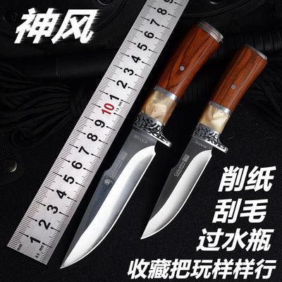 户外刀具直刀随身小刀长款高硬度狩猎砍柴刀防身刀野外求生军工刀
