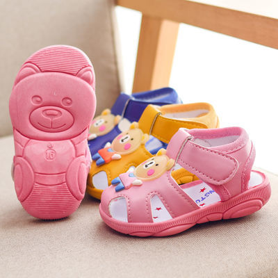 叫叫鞋男宝宝鞋子婴儿学步鞋软底女童童鞋0-1-2岁3春防滑凉鞋