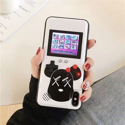 抖音彩屏经典游戏机手机壳oppor15/r17华为nova4/p30/vivox27苹果