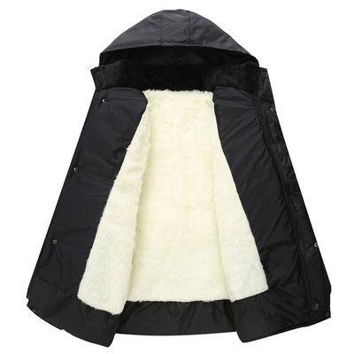 保暖外套棉服中老年爸爸装大码男装冬装中长款加绒加厚棉袄棉衣男