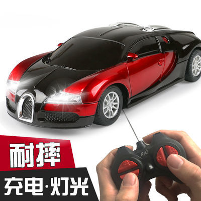 儿童玩具车男孩遥控车玩具赛车布加迪模型漂移可充电动小汽车玩具
