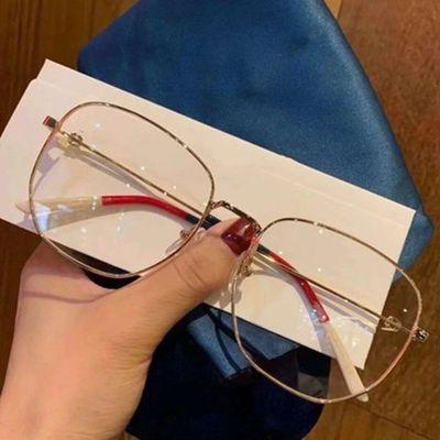大框防蓝光辐射眼镜个性明星网红眼镜框架男女平光配近视倪妮同款