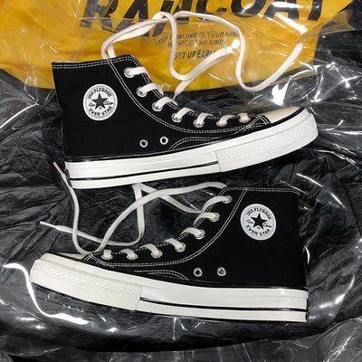 帆布鞋透气1970s经典款高帮低帮男女鞋学生垫吸汗防臭适配减震