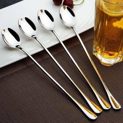 不锈钢长柄小勺加长咖啡勺 搅拌棒 搅拌勺 创意甜品冰勺 长把勺子