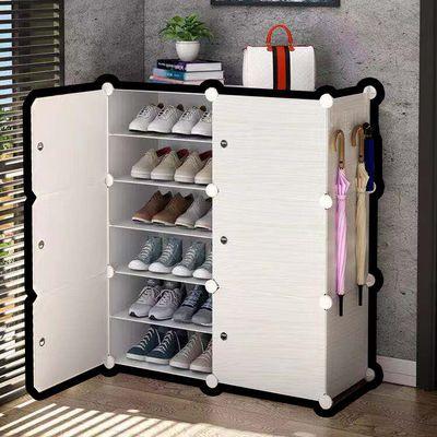 鞋架子多层家用门口防尘宿舍进门鞋子收纳神器实木多功能简易鞋柜