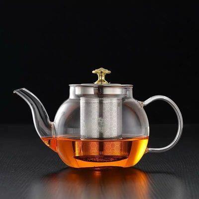 电陶炉煤气炉通用304内胆耐高温玻璃茶壶家用过滤茶具套装