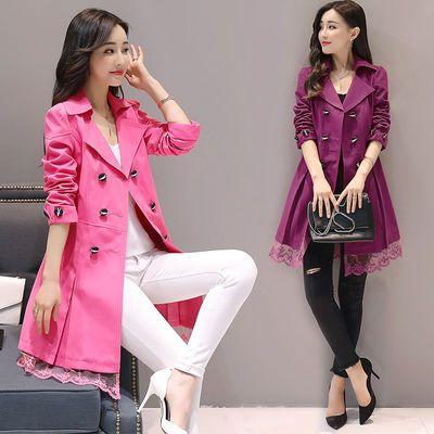 2020新款热卖春秋装风衣女中长款韩版新款女装小个子淑女春秋外套
