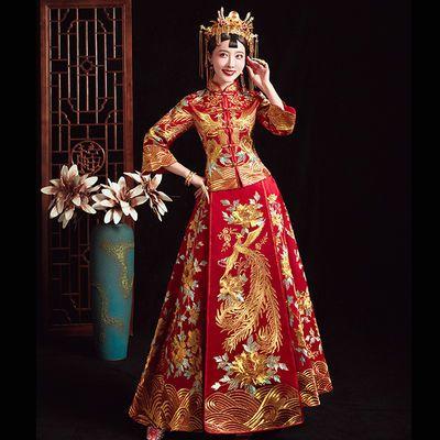 秀禾服新娘2020新款女中式结婚礼服敬酒服大码古代龙凤褂婚纱嫁衣