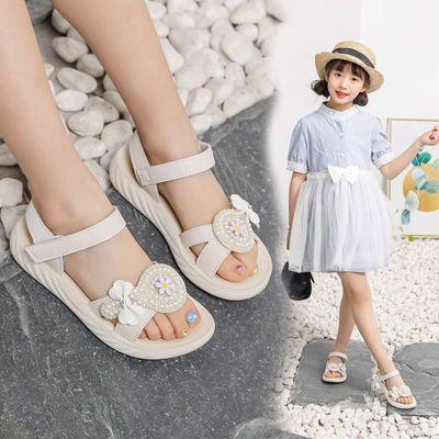 女童凉鞋洋气2020新款儿童凉鞋女网红公主鞋小女孩中大童夏宝宝鞋