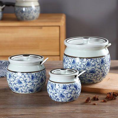 陶瓷调料罐调料盒调味罐家用厨房盐罐白糖罐辣椒油罐猪油罐耐高温