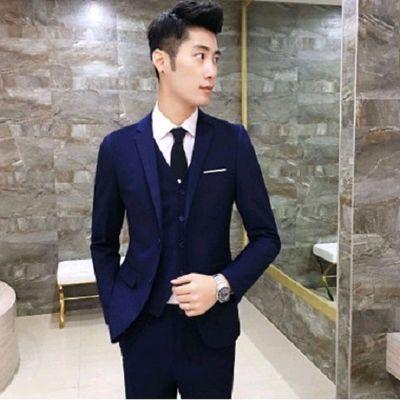 西服套装男大码五件套修身职业商务正装学生伴郎西装新郎结婚礼服
