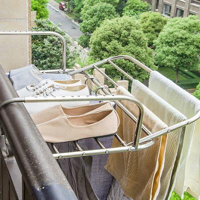 不锈钢伸缩晾衣架阳台窗台室内外晾晒架衣服架子晒鞋架小型晾衣架