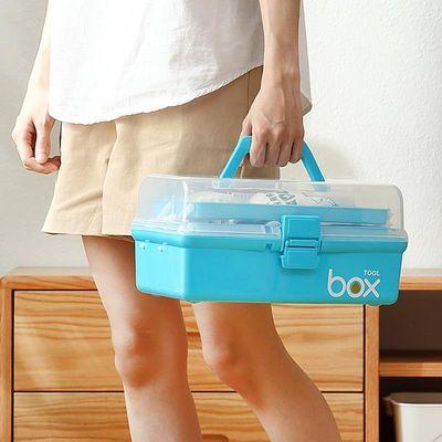 家用药箱收纳箱中大号多层便携多功能学生工具箱医疗箱家庭医药箱