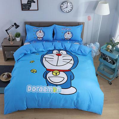 新款卡通四件套 哆啦A梦儿童男女孩床上用品1.2m床单被套 三件套