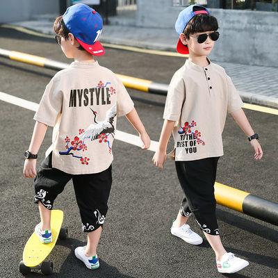 童装男童男孩夏装套装2020新款夏款夏季中大童帅气洋气韩版潮衣服