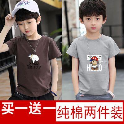 【纯棉】夏装男童短袖t恤男孩短袖宽松打底衫童装儿童半袖上衣