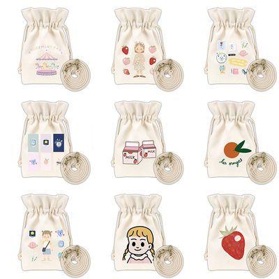 女学生可爱百搭迷你帆布袋小清新斜挎包日系小号水桶包森系手机包