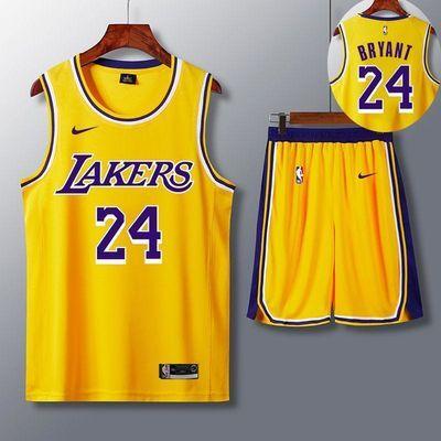2020新款湖人队科比24号NBA套装詹姆斯23号球衣篮网11号学生男女