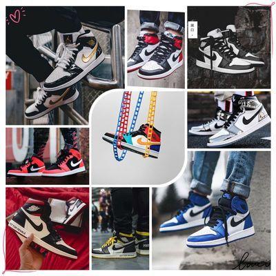aj男鞋篮球鞋流行高帮皮面板鞋aj1灰麂皮黑曜石aj1变色龙蒂芙尼绿