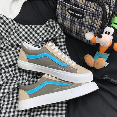 (品牌特卖)韩版chic帆布鞋休闲米斯有-万斯男鞋学生女鞋滑板板鞋