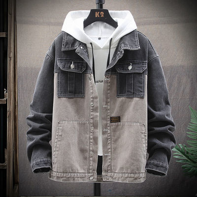 2020春秋季新款男士牛仔外套韩版夹克潮流帅气宽松港风上衣服男装