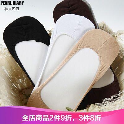 高档5双装大码船袜女3942硅胶防滑加肥加大豆豆鞋棉浅口隐形a