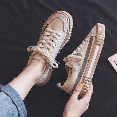 帆布鞋女2020新款韩版ulzzang板鞋学生百搭春季ins街拍潮小白鞋子
