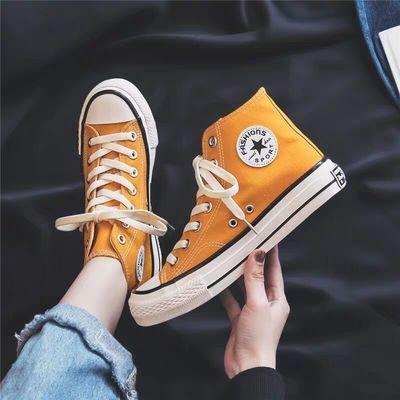 经典时尚儿童高帮帆布鞋女童布鞋男童板鞋大童低帮亲子球鞋小白鞋