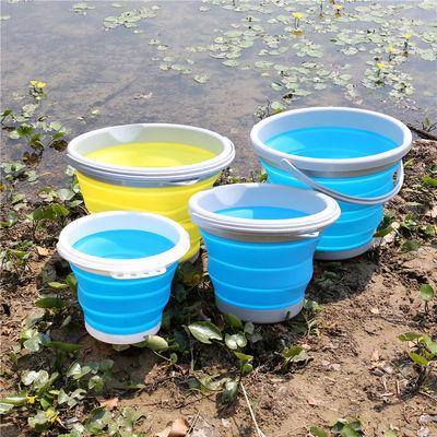 户外折叠式钓鱼桶美术汽车载水桶便携钓鱼圆形打水桶鱼桶渔具用品