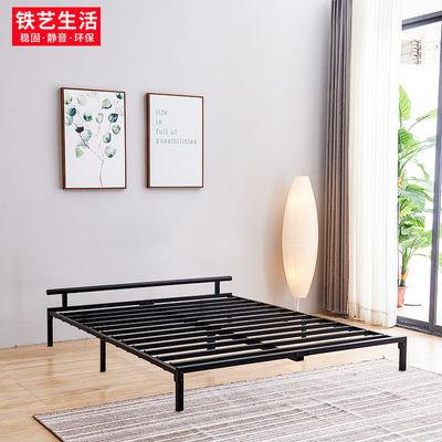 北欧铁艺床现代简约铁床双人床1.5米铁架床宿舍单人床小户型床架