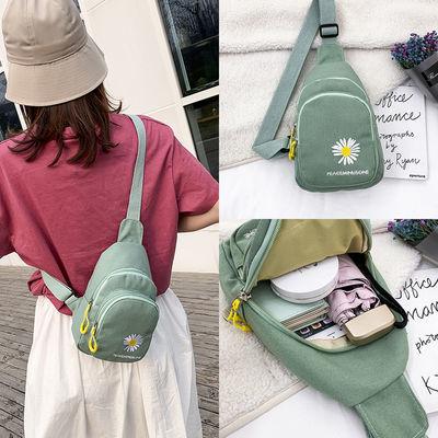 胸包女ins斜挎包女小包帆布包女学生韩版百搭休闲包包女2020新款