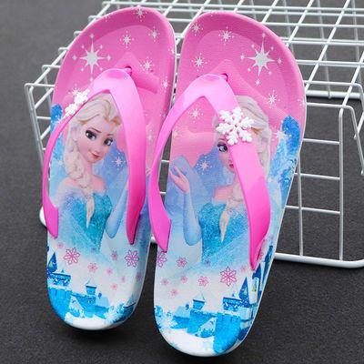 公主夏季男女童人字拖可爱卡通沙滩软底外穿防滑拖鞋小孩儿童夹脚