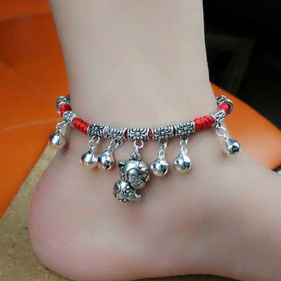 新款12生肖红绳脚链女款流行时尚森系学生脚环情侣一对饰品脚链