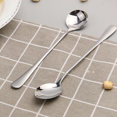 创意不锈钢长柄勺子办公室咖啡勺搅拌勺饭勺匙茶匙调羹长汤勺