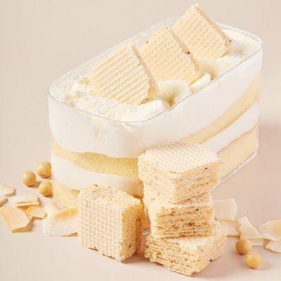 薄荷健康EasyFun奇亚籽豆乳威化饼干早餐网红休闲零食