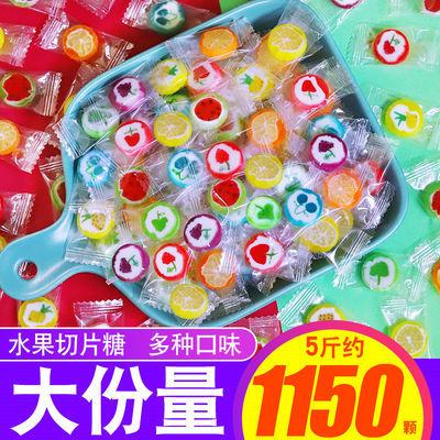 5斤大包装手工切片糖果水果糖混合味招待好吃儿童小零食散装批发