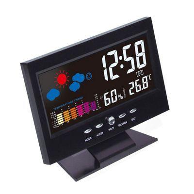 声控智能电子闹钟学生用静音创意简约卧室床头夜光数字儿童小闹表