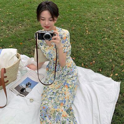 FFAN泛泛【闯入莫奈调色盘】浪漫一夏美到不可方物法式碎花连衣裙