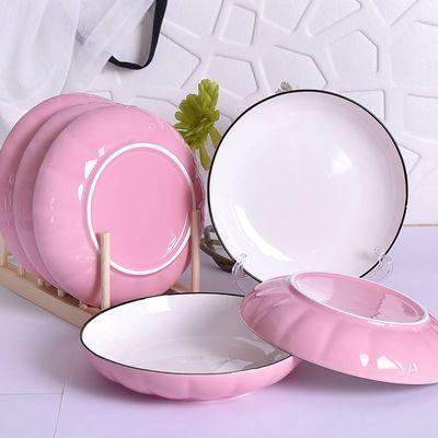 2020新款【享嘉】日式陶瓷深盘子菜盘家用创意西餐具凉皮水果网红