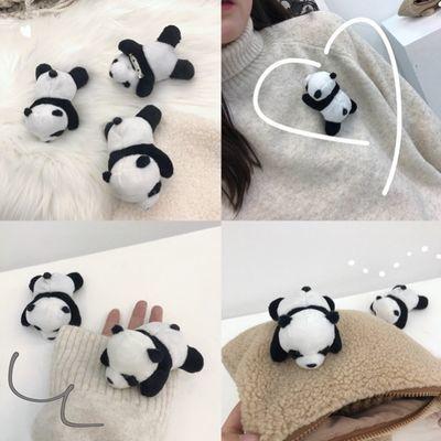 趴趴熊可爱熊猫公仔玩偶胸针包包装饰软萌卡通创意别针女学生饰品