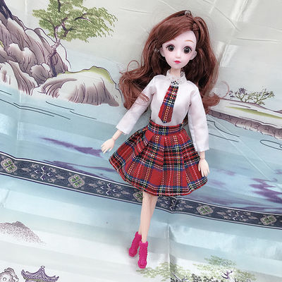 芭比娃娃衣服换装30厘米芭比公主女孩玩具时装短裙学生裙运动服饰