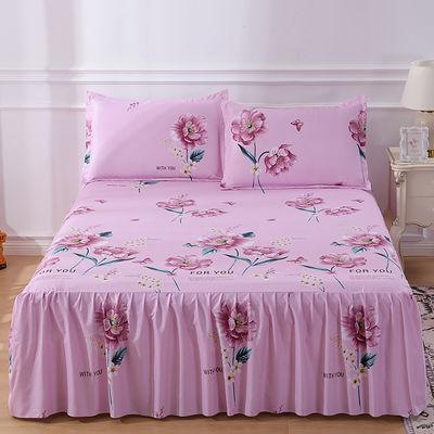 【48小时内发货】防滑单件床裙韩版不褪色床罩公主席梦思保护套