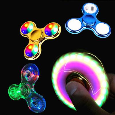 批发带灯发光手指陀螺成人减压指尖陀螺夜光玩具儿童水晶陀螺玩具