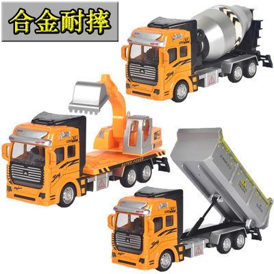儿童玩具车男孩合金车模回力工程车挖掘机翻斗车吊车小汽车模型