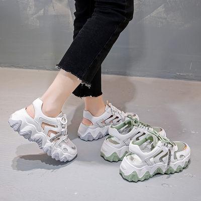 鞋子女学生韩版2020最新款夏季运动凉鞋ins网红百搭厚底老爹鞋潮