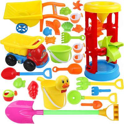 儿童沙滩玩具套装车大号沙漏铲子沙桶宝宝沙池工具玩沙决明子玩具