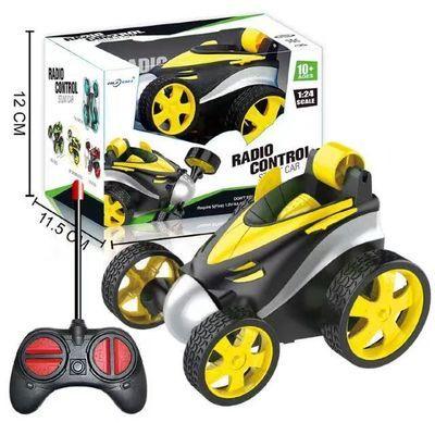 儿童遥控车玩具充电灯光音乐电动遥控翻斗车360度翻滚特技车